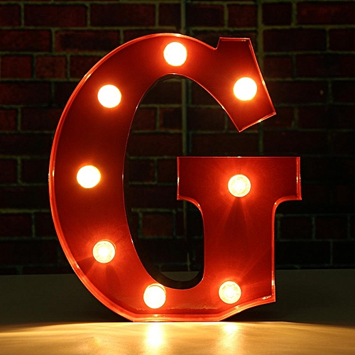 9'' LED Marquee Letter Metal Alphabet Lights Circus Vintage Style Light Up Sign