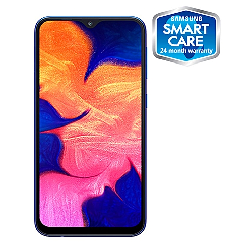 Galaxy A10 6.2-Inch (2GB RAM, 32GB ROM) Android 9.0 Pie, 13MP + 5MP 4G LTE Smartphone - Blue