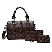 c3845f7e9b 3 Pieces set Vintage Elegant Woman Bag Fashion Pillow Bag Handbag Shoulder  Bag Brown