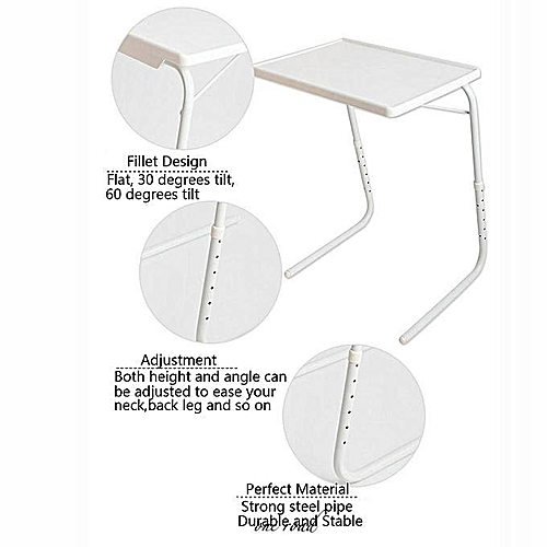 Adjustable Folding Table Dinner Coffee Laptop Computer Table Companion Tray High