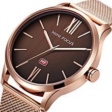 Simple Watch Unisex Fashion Quartz Geneva Clocks Rose Gold Mesh Strap Dress Party Decoration Wristwatches Relogio Masculino Modern Techniques Men's Watches