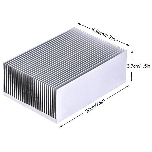 Aluminum Heat Radiator Heatsink Cooling Fan 200x69x37mm Silver Tone