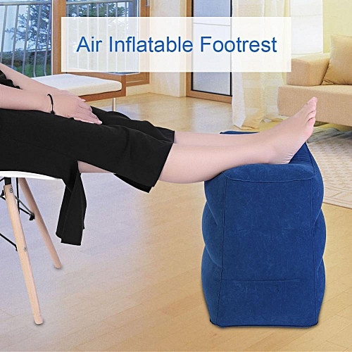 4 Colors Travel Air Inflatable Footrest Travel Air Inflation Pillow Relax Footstool Airplane