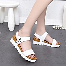 33f7e119e5ff9f Summer Sandals Women Aged Flat Fashion Sandals Comfortable Ladies Shoes  WH 35 -White
