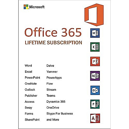 Office 365 Lifetime Subscription 5 Users PC/Mac - Download Version