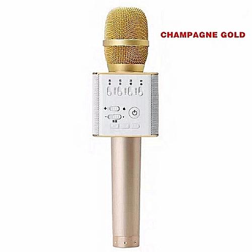 Generic Q9 Magic Karaoke Microphone Phone KTV Player Wireless Condenser Bluetooth MIC Speaker Record Music Pink Gold White Black.