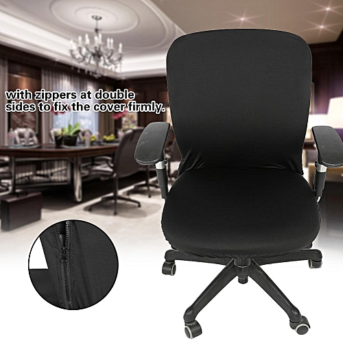 Removable Elastic Stretchable Fabric Chair Seat Cover Protector For Office Computer Chairs