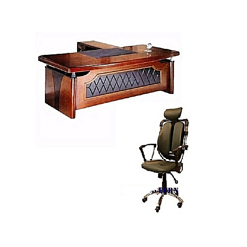 Executive Office Table With Extension + Executive Ergonomic Chair