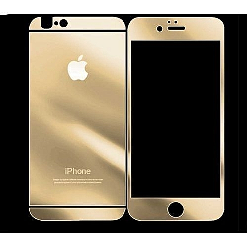 reputable site cdd82 95720 IPhone 6+ Front And Back Color Tempered Glass Screen Protector Mirror Glass  Gold,Silver