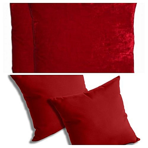 Velvet Pink Throw Pillows Sets-4pieces