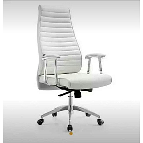 Executive Swivel High Back - White