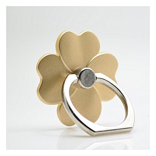 Phone Ring Holder Gold Flower 360 Degree Rotation