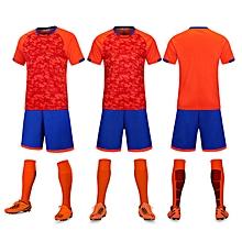 68c99bd2dbf Short Sleeve Men  039 s Football Soccer Jersey Suit Blank-5021 Orange