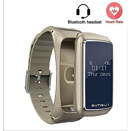 Waterproof Smart Bracelet Bluetooth Headset Call Heart Rate Monitor Fitness Wristband Sport Smartband For IOS Android