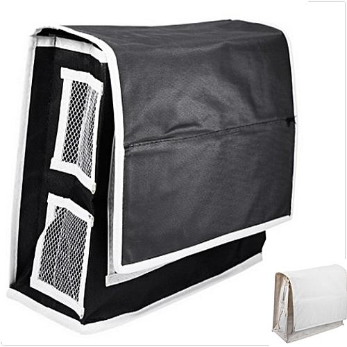 6 Pockets Beside Storage Mattress For Headboard Bed Bathroom (BEIGE)