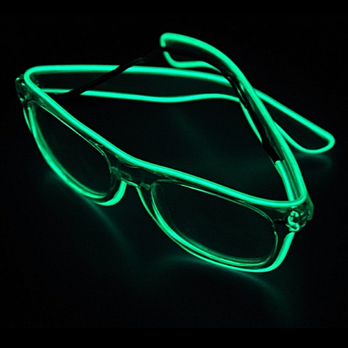 New Halloween El Wire Led Light Glitter Glasses Fluorescent Glasses Glowing Personality Up Flashing Christmas Party Decoration