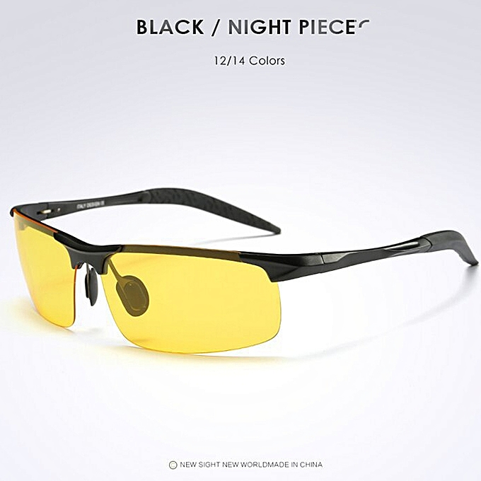 be63cff33e Goggles Eyeglasses Polarized Driving Sunglasses Yellow Lens Night Vision Driving  Glasses Men