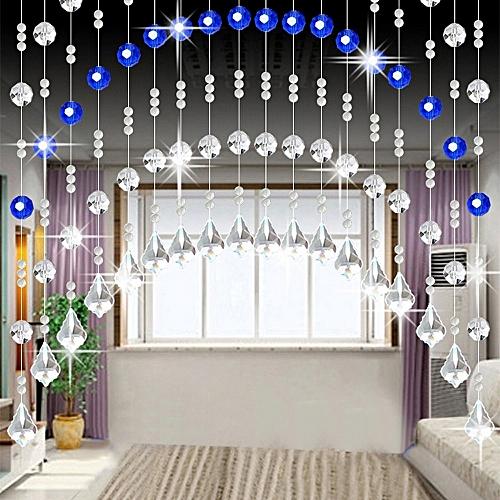 Jummoon Shop Crystal Glass Bead Curtain Luxury Living Room Bedroom Window Door Wedding Decor