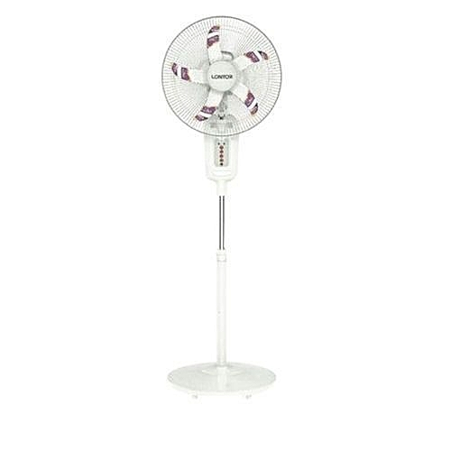 "16"" Lontor Rechargeable Standing Fan With Solar Port, Remote Control..."