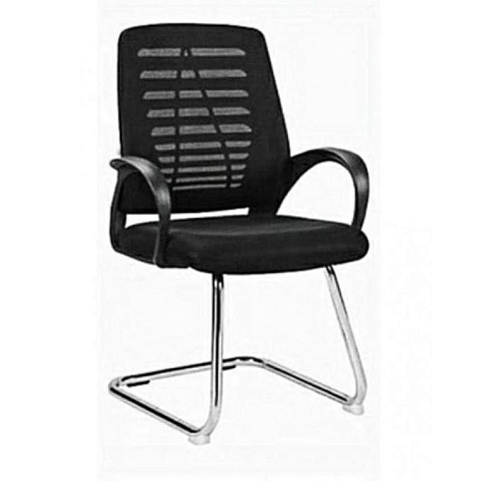 Living Home Executive Visitor's Office Chair - Black