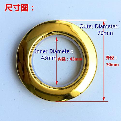 80PCS Nano Curtain Plastic Roman Eyelet Ring Grommet Tape For Eyelet Curtain Rod(Outer Diameter: 70mm,Inner Diameter: 43mm)