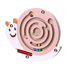 Braveayong Kids Magnetic Maze Toys Kids Wooden Game Toy Wooden Intellectual Jigsaw Board A -Multicolor, used for sale  Nigeria