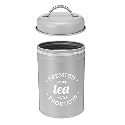 3Pcs Tea Coffee Sugar Canisters Storage Jars Set Retro Iron Pots Kitchen Bottle