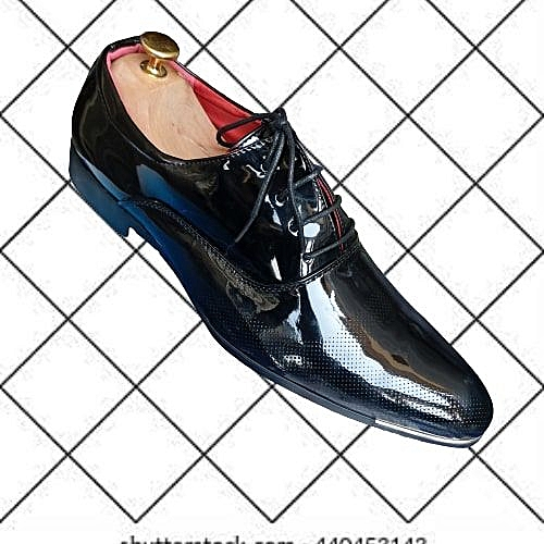 Women Patent Leather Flat Shoe With Horse Wip Detail - Black