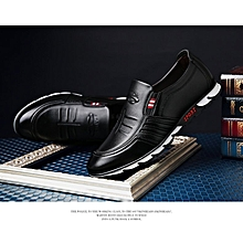 ae122e4acb9e Fashion Genuine Leather Men Formal Shoes British Sytle Loafers Slip-On  Causal Dress Driving Shoes