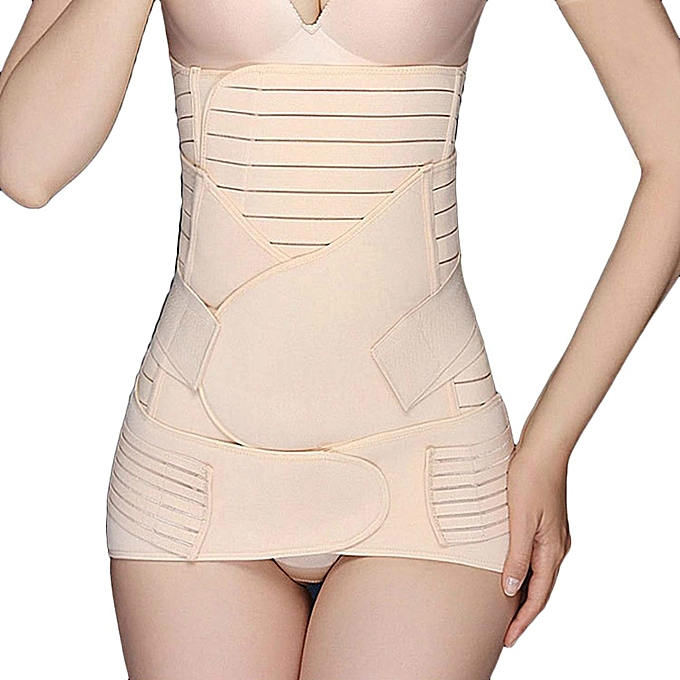 150619c56 3 In 1 Postpartum Girdle Support Recovery Belly Band Corset Wrap Body  Shaper For After Birth