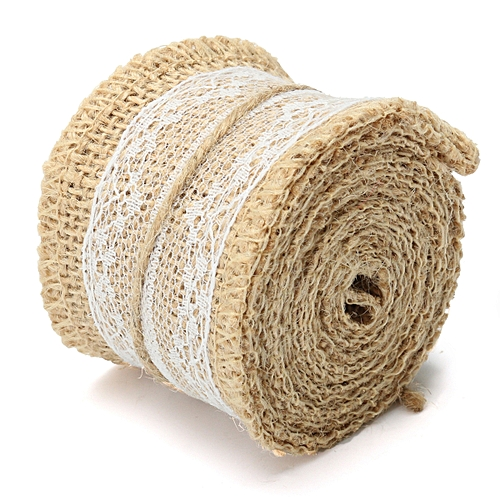 Natural Burlap Roll Hessian Lace Table Runner Vintage Wedding Party Decor NEW