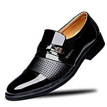 a51d85aac95 Men Shoes PU Leather Office African Style Spring Autumn Winter Summer  Business Splice Sleeve Shoes Black