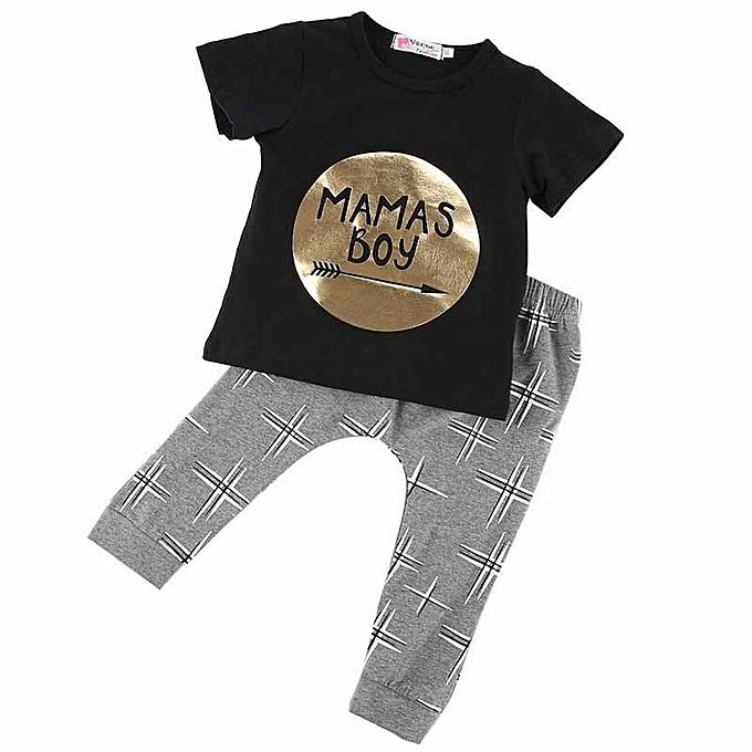 6a435f9e8 Newborn Toddler Infant Kids Baby Boy Clothes T-shirt Tops+Pants 2PCS  Outfits Set