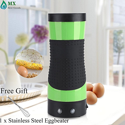 [free Gift] Electric Eggroll Maker Egg Roll Boiler Automatic Omelette Sausage Frying Cooking Tool Cup Green