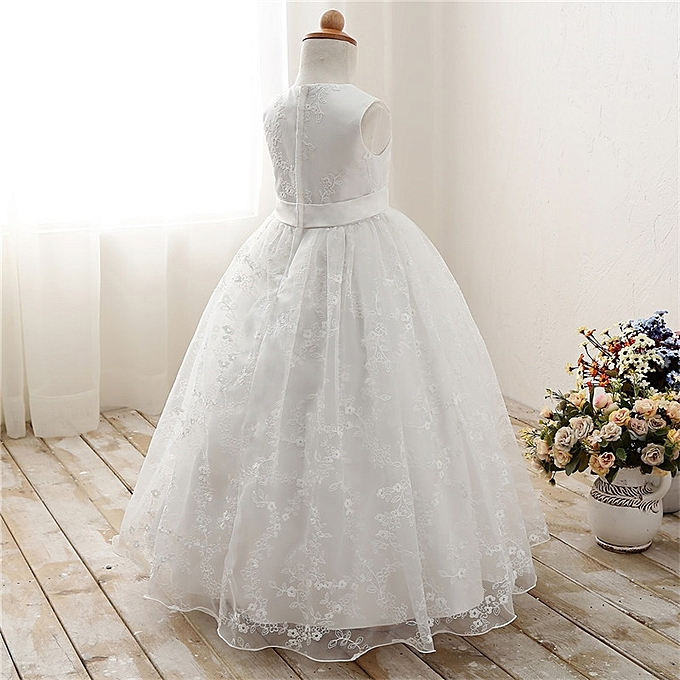 d81fc0e46c3 ... White Lace Flower Girl Dresses For Wedding Prom Party Event Gown  Children Princess Girl Graduation Ceremony ...
