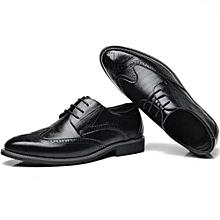 Men  039 s Leather England Bullock Brogue Dress Shoes Upto Size 48 - Black 9b2e813e3