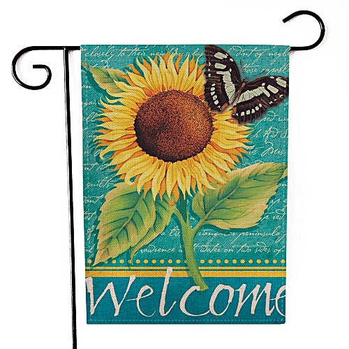 Hiamok_Dtrestocy Hello Spring Garden Flag Indoor Outdoor Home Decor Letters Flowers Flag