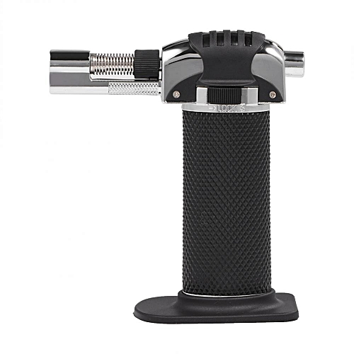 Adjustable Flame Outdoor Refillable Butane Micro Torch Cigar Lighter For Culinary BBQ Soldering