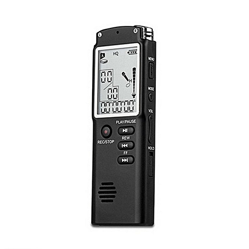 T60 Professional Digital Voice Recorder Time Display Dictaphone MP3 Player Black