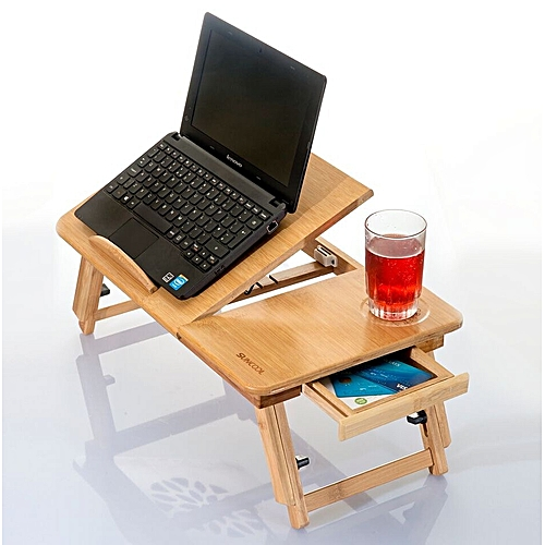 Foldable Bamboo Bed Tray / Mobile Lap Desk