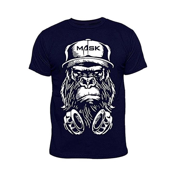 2ae898d1 Chrysolite Designs Men's Mask Print T-Shirt - Navy Blue | Jumia NG