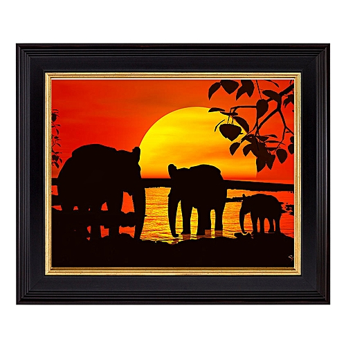 12x16 Inches Picture Frame - ElephantSunset