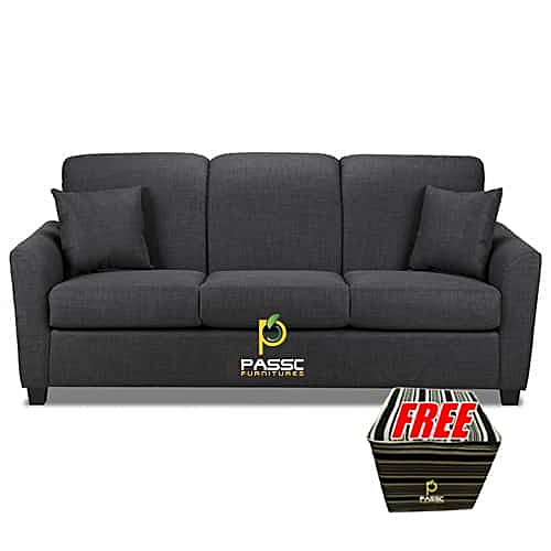 Passc Exotic 7 Seater Sofa - Grey + FREE Ottoman. Delivery To Lagos Residence