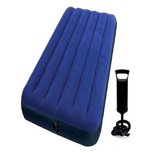 Air Inflatable Mattress Bed With Pump - Blue