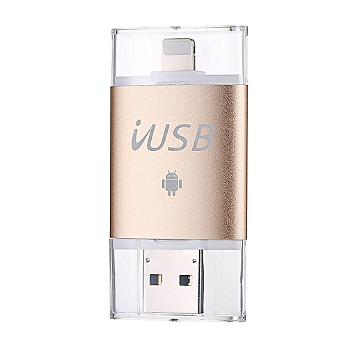64G USB3.0 External Storage OTG Flash Drive Memory Stick For Android/iPhone/Computer