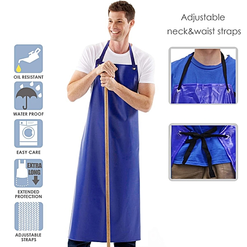Waterproof Apron PVC Apron Chef Butcher Work Heavy Duty Royal Blue Best Quality