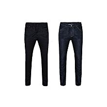 d75c84214bfe63 Men  039 s Straight Jeans-Black  amp  Blue