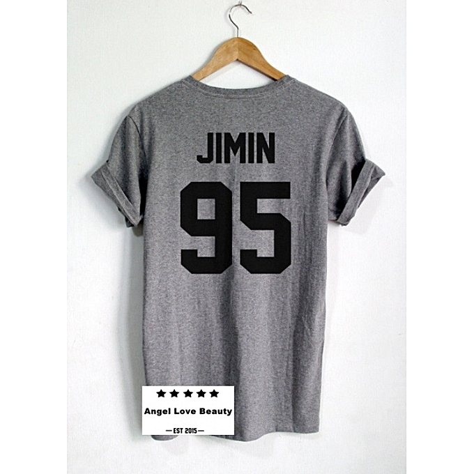 5c802cb0dba BTS Shirt JIMIN BTS T Shirt JIMIN 95 UNISEX PRINT ON BACK SIDE SHIRT BTS  Bangtan