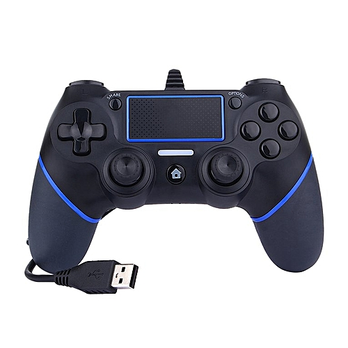 USB Wired Game Controller For Sony PlayStation 4 Joystick Gamepad Blue&black