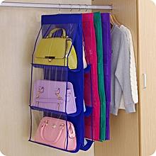 1Pcs 6 Pockets Hanging Storage Bag Handbag Shoe Rack Hanger dcd66284ff3a7